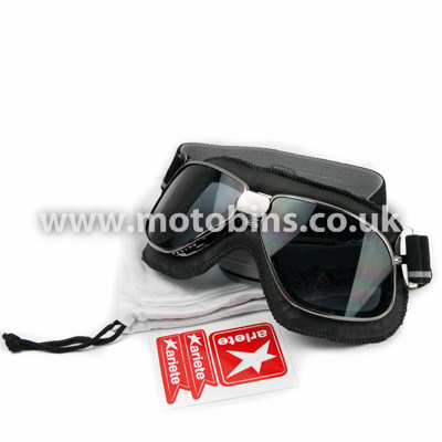 Leather Goggles with tinted lenses